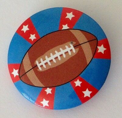 American Football NFL Gridiron Style Button Badge Pin Vintage Authentic (N15)