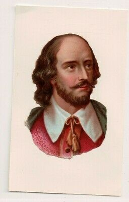 Vintage CDV William Shakespeare Inglés Poet, Playwright, y Actor