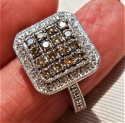 QVC Affinity Natural Champagne Diamond Ring , 1 ct. !!