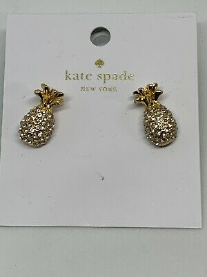 Authentic KATE SPADE NEW YORK Gold By The Pool Pineapple Stud Earrings