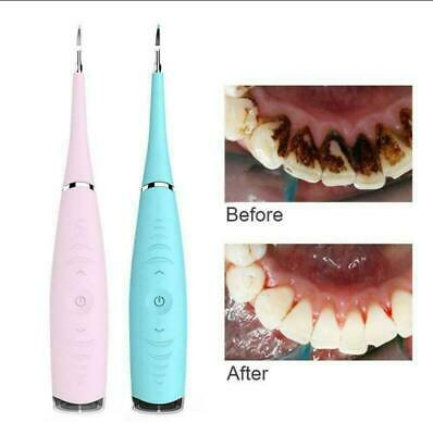 Electric Sonic Dental Scaler Tartar Calculus Plaque Remover Tooth Stains Tool AU