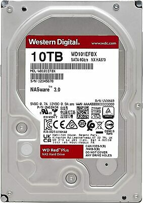 "WD Red 10TB NAS HDD 3.5"" SATA Internal Hard Drive 256MB 5400RPM Western Digital"