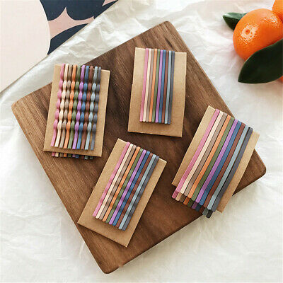 Sweet Fashion Women Girls Matt Color Hair Clips Candy Color Hairpins 10pcs/set