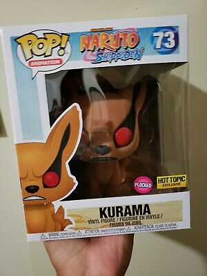 Funko Pop! Naruto Shippuden #73 Kurama Flocked Hot Topic Exclusive In Hand New