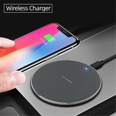 Qi Wireless Charger Pad 10W Fast Charging Dock  for iPhone Samsung Huawei Xiaomi