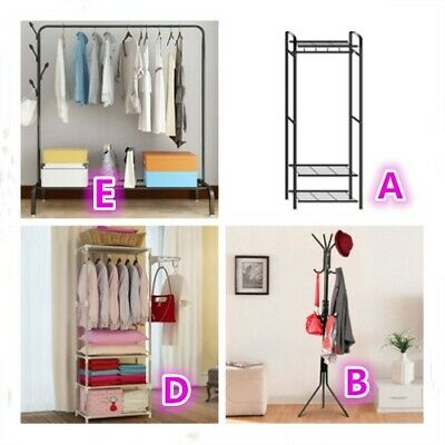Clothes Rail Rack Coat Hat Garment Hanging Display Stand Shoe Rack Storage Shelf