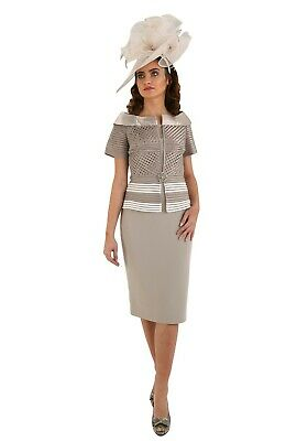 Mother of the bride dress & Hat ,Veni Infantino by Ronald Joyce Style 991244