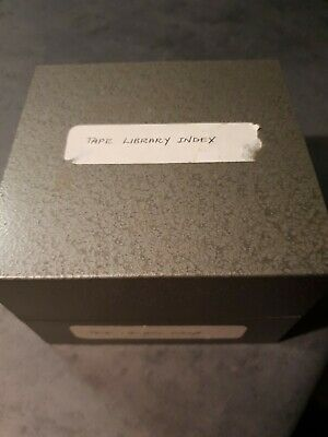 Strong Metal Box- Library Catalogue Card Index - Vintage