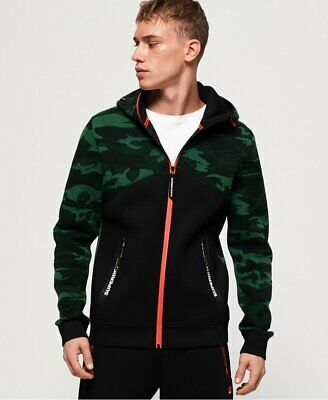 SUPERDRY GYM TECH Spliced Zip Hoodie SIZES S RRP £74.99