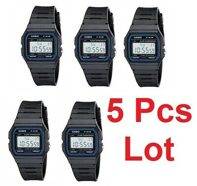 Casio F-91W 5 Pcs Lot Original  New Alarm Classic Digital F-91 Watch 5 Pieces