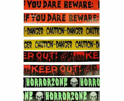 Gruseldeko Halloween Absperrband Danger Horror Keep Out Halloweenparty