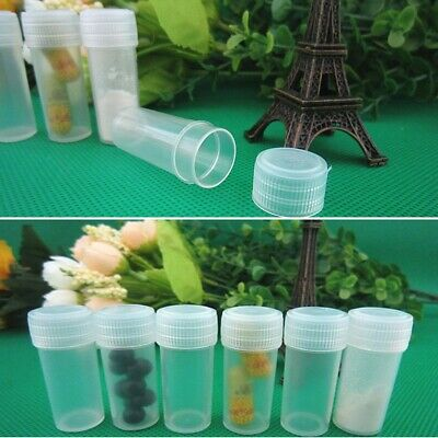 20/40/100x 5ml Chemistry Test Tubes Vials & Seal Caps Sample Container Bottles