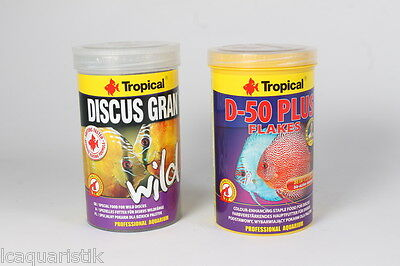 1000ML Tropical Salvaje Gran + 1000ML Discus Escamas 1000ML ( 13,45€/ 1000 ML)