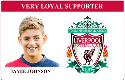 Personalised Novelty Football Club Supporter ID Card - Liverpool.