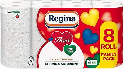 Regina 3 Ply Tissue Paper Heart Kitchen Towel Cleaning Bulk Buy  20 Rolls