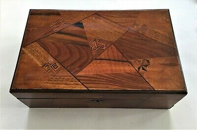 Antique / Vintage Oriental Marquetry Inlaid Writing Slope