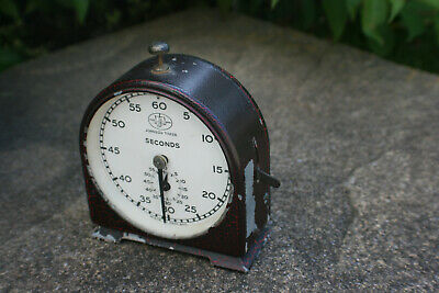 Vintage Johnson Timer 60 Seconds Dark Room Timer - Smiths English Clock