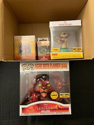Funko Pop! The Lion King Mystery Box HOT TOPIC EXCLUSIVE*SCAR WITH FLAMES CHASE*