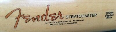 2PCS Fender Decal Waterslide Gold Stratocaster Restoration Headstock