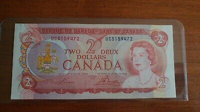 1974 Canada Two Dollar Bank Note  Uncirculated - $2.00 Bill - Serial # UC5159472
