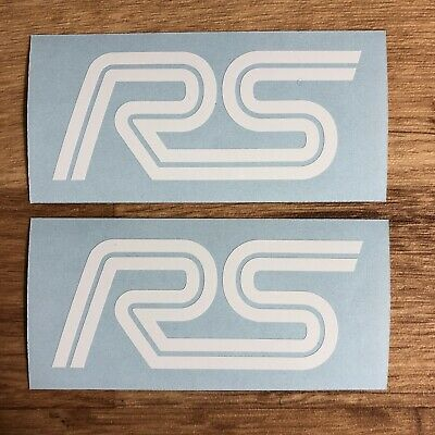 Ford Focus RS Stickers Vinyl Decal White Cosworth Escort Turbo Sierra Fiesta