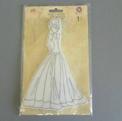 Julie Nutting Prima Cling Stamp Lorrena Mixed Media New 910280
