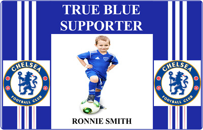 Personalised Novelty Football Club Supporter ID Card - Chelsea.