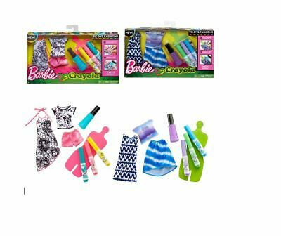 New Barbie Crayola Green Tie-Dye Fashions Pack w// Washable Marker Pens Official