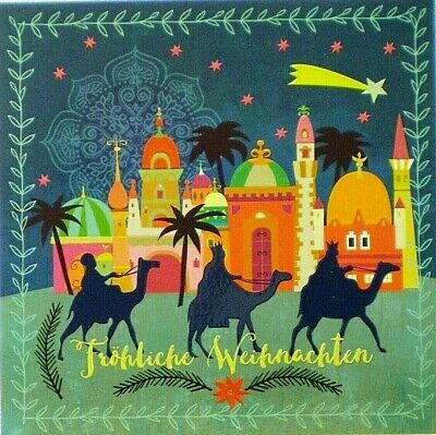 Postcard Art Card Christmas Star Weihnachten Holy Land Holidays Square Card