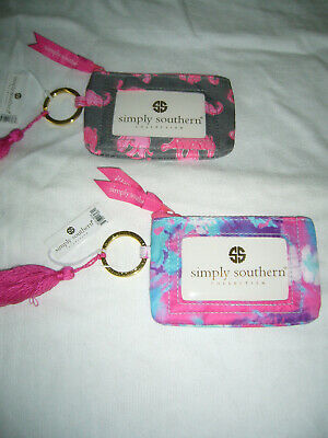 """Simply Southern Coin Purs Wallet /ID Holder with Key Ring - 5""""L X 35""""W (NWT)"""