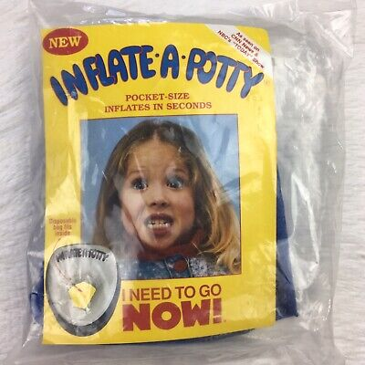 Vintage 1991 Inflatable Potty Children's Size Washable Traveling Camping, Etc.