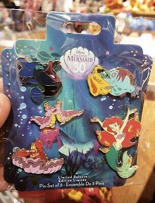 Disney The Little Mermaid 30th Anniversary Pin Set Limited Release