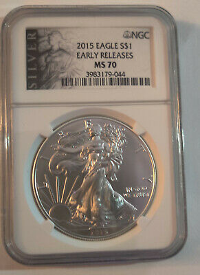 2015 American silver eagle 1 oz. MS 70 NGC Early Release
