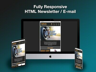 Professional HTML Email Template Development / Coding from PSD PDF PNG JPG