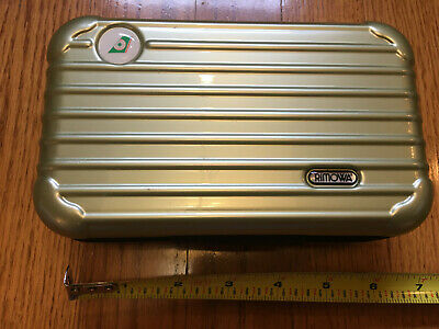 EVA Air RIMOWA Amenity Kit Light Green Pearl Empty Case Only Zippered Hard Shell