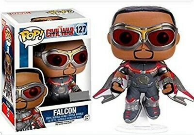 Sam Wilson Statue/Funko Pop Hot Topic Exclusive Civil War Falcon #127 combo😮