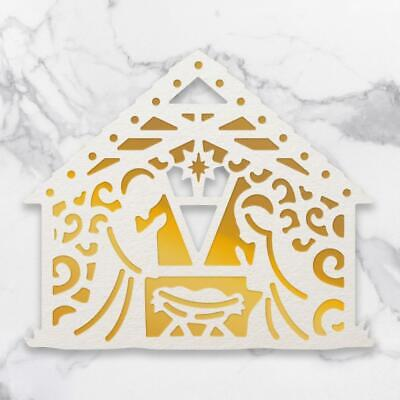 Couture Creations Dies AWAY IN A MANGER Cut Foil & Emboss Die Christmas Nativity