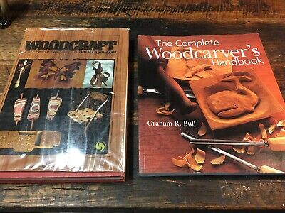 2 x Woodcraft Books Concepts & Skills Newman The complete Woodcarvers Book Bull.