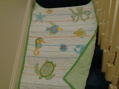 Pottery Barn Kids Crib Quilt ~ Wall Hanging ~ Under the Sea