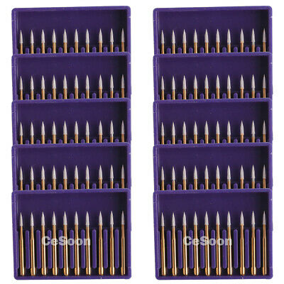 100Pcs Dental Carbide Burr Burs Tungsten Burs FG 7902 for High Speed Handpiece