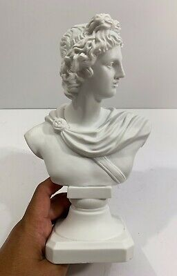 Old Classical Parian Bust Of Apollo