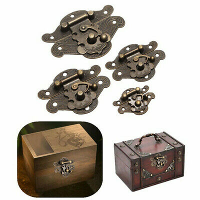 Antique Retro Vintage Latch Catch Jewellery Box Hasp Pad Chest Lock Hook Durable