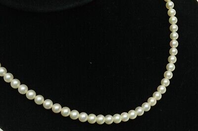 Authentic Mikimoto Vintage Akoya Pearl Strand Necklace in Box 72 REAL 6mm Pearls
