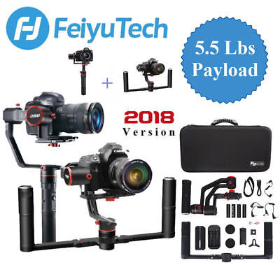 Feiyu Tech a2000 3-Axis Gimbal w/ Dual Handheld bar for Mirrorless DSLR Cameras