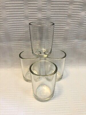 Anchor Hocking Restaurant Ware-Heavy Clear Glass Tumbler/Drinking Glasses-Qty.4