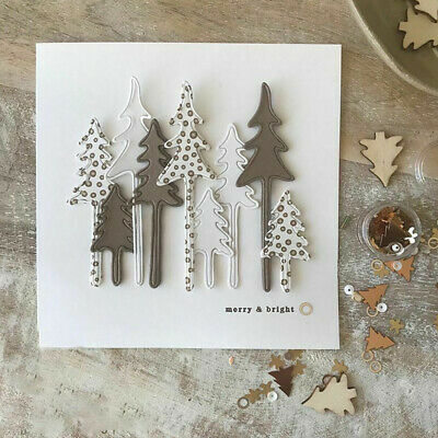 1 Set Christmas Tree Metal Cutting Dies Stencil DIY Scrapbooking Paper Embossing