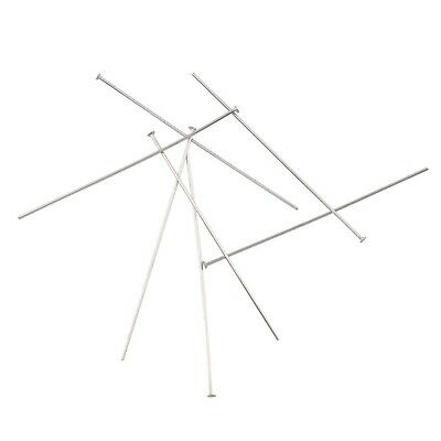100+ Headpins Stainless Steel 50mm approx 110 (16g) .07mm with 2mm Head pins