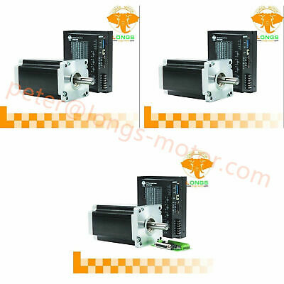 3Axis Nema42 Stepper Motor 4120oz-in 8A 4wires Driver Controller DM2722A CNC Kit