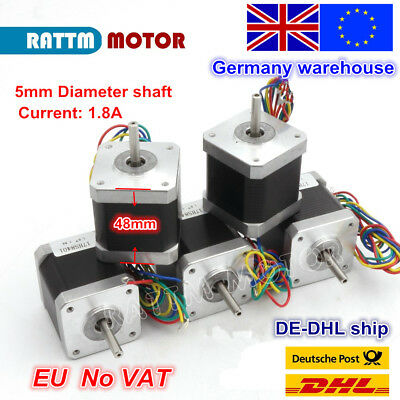 【EU Stock】 5Pcs Nema17 Stepper Motor 78oz-in 48mm 1.8A for 3D Printer CNC Robot