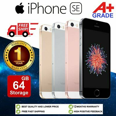 (Grade A+) Apple iPhone SE 16GB 32GB 64GB Factory Unlocked Mobile Smartphone